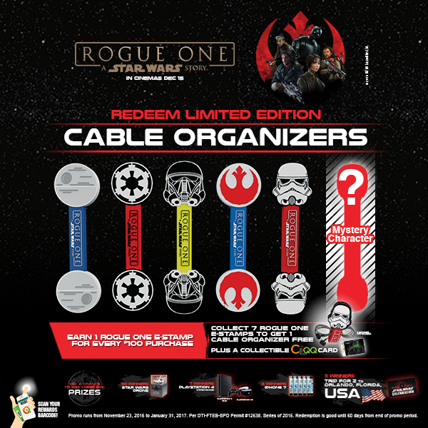 Rogue One: Cable Organizers