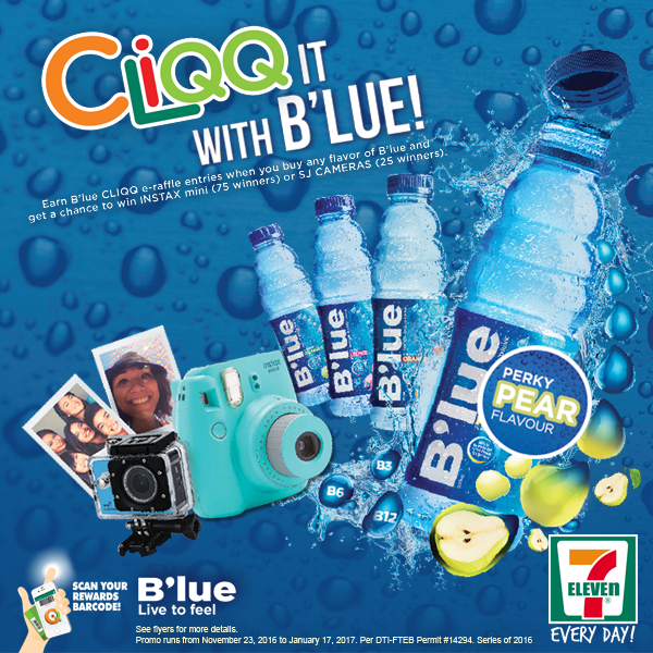 CLiQQ it with B'lue! Raffle Promo