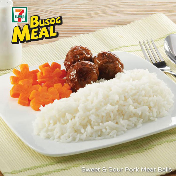 Busog Meal: Sweat and Sour Meat Balls
