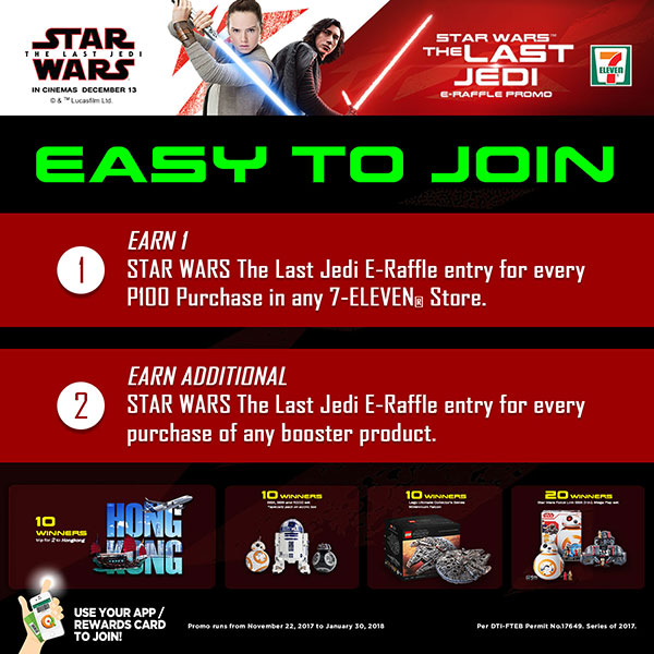 Star Wars Episode 8: The Last Jedi E-Raffle