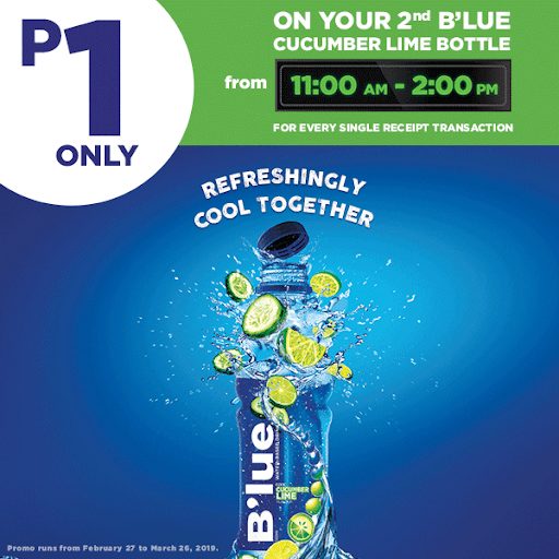 B'lue Cucumber Lime Timed Promo – Buy 2nd Bottle for only 1 Peso
