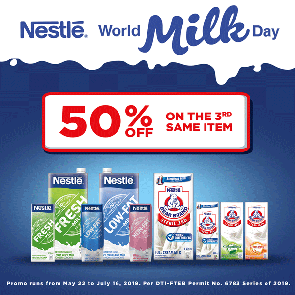 Nestle World Milk Day Promo: 50% off on the 3rd item