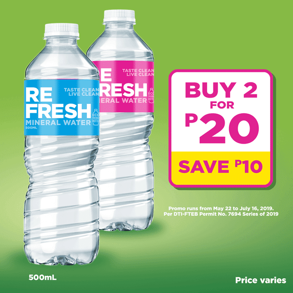Refresh 500ML Buy 2 for only P20