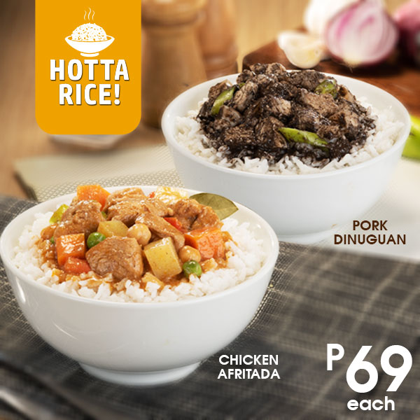 Hotta Rice! Chicken Afritada and Pork Dinuguan