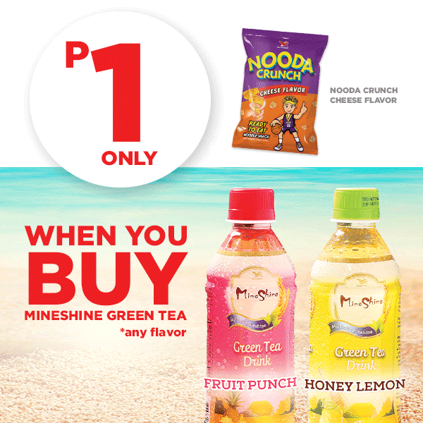 Mix and Match: P1 Only for Nooda Crunch When You Buy Mineshine Greentea