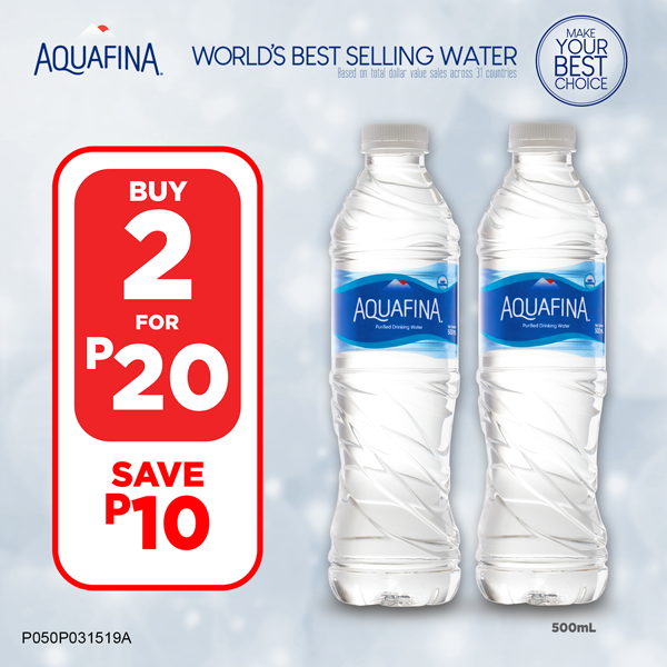 Aquafina 500mL – Buy 2 for P20