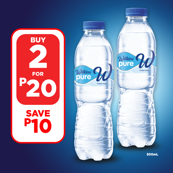 Wilkins Pure Purified Water 500 mL – Buy 2 for P20