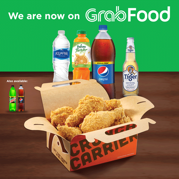 We are now available on GrabFood!