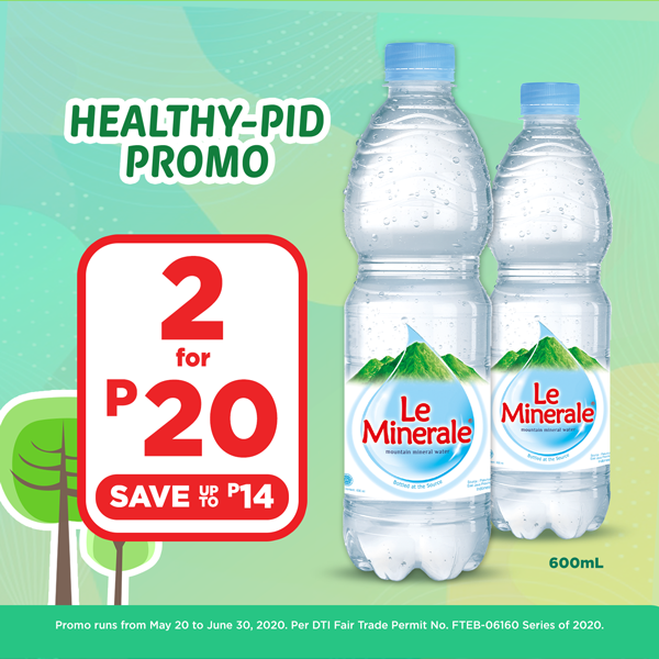LE MINERALE BUY 2 FOR P20