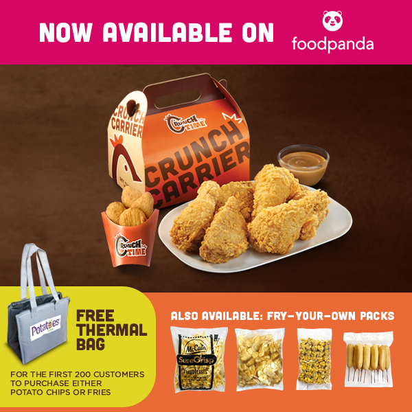 Crunch Time is now available through FoodPanda!