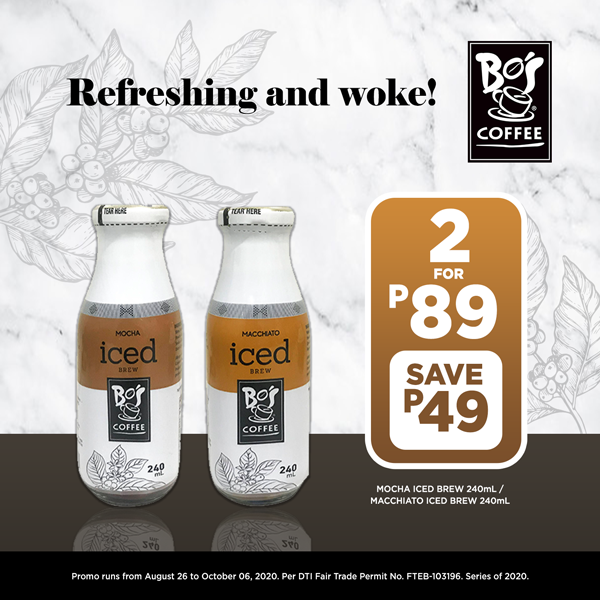 Buy 2 Bo's Coffee at P89 (save 49)