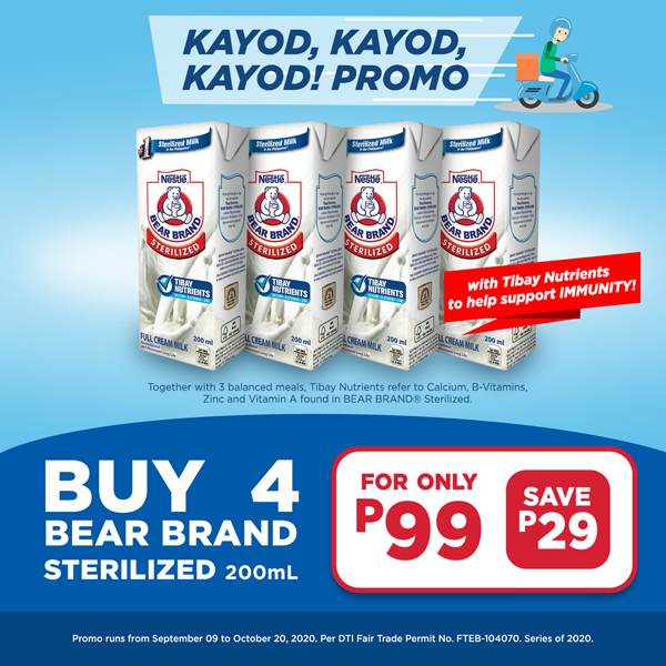 Buy 4 Bear Brand Sterelized 200ml at P99