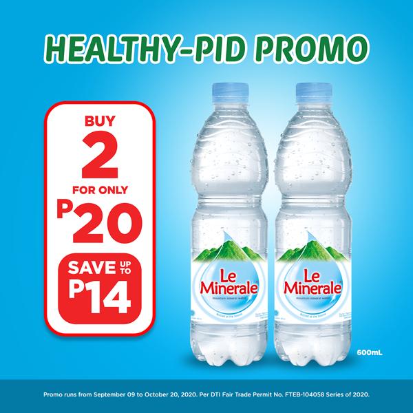 Le Minerale Buy 2 for P20, Save up to P14.00