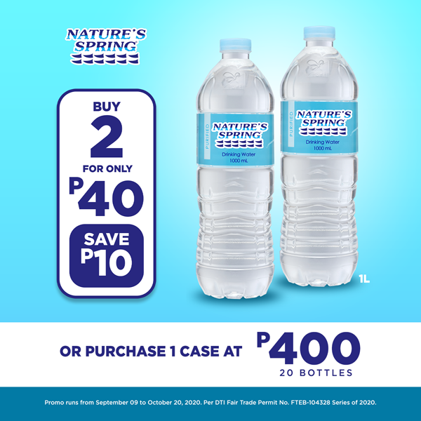Nature's Spring Purified 1L Buy 2 for P40