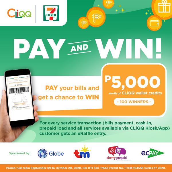 Pay and Win Promo Winners