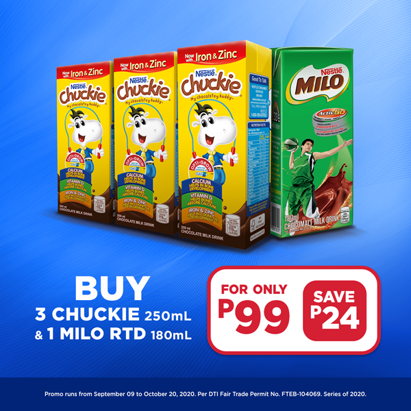 Buy 3 Chuckie and 1 Milo at P99