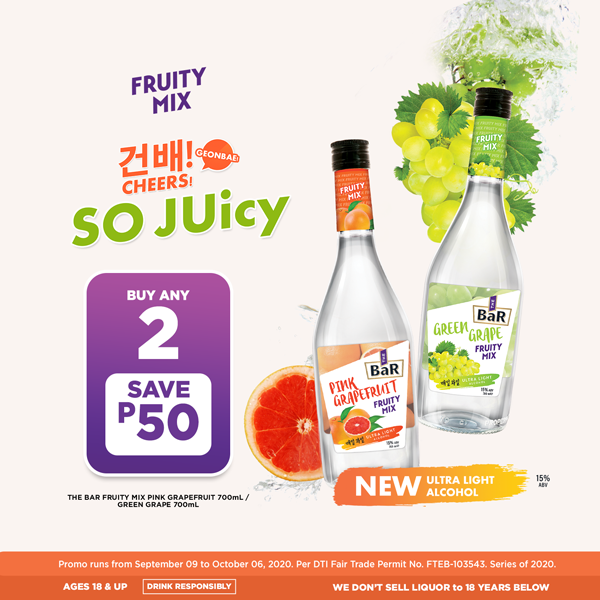 The Bar Fruity Mix, Buy 2 Save P50